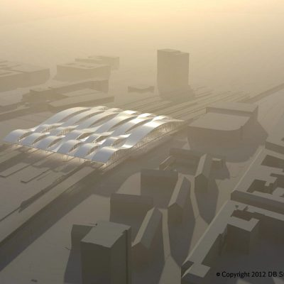 Visualisierung: Hallendach Duisburg Hauptbahnhof (Quelle: DB Station&Service AG)
