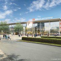 Visualisierung: Das neue Empfangsgebäude (Quelle: DB Station&Service AG/I.SBP)